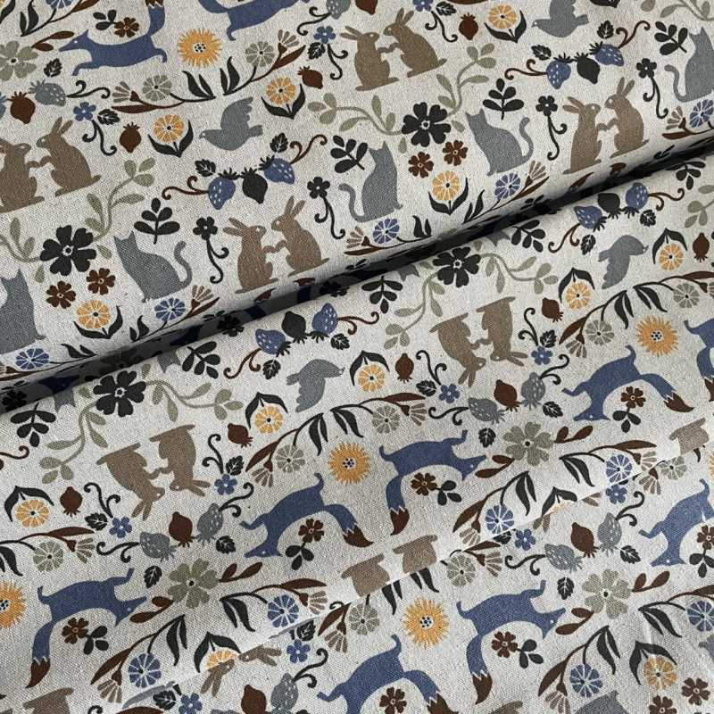 cosmo fabric by the meter cotton fabric animal motif