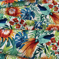 Fabrics Michael Miller cotton fabric with flowers, plants and birds