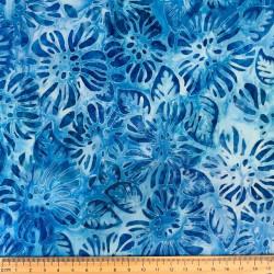 Artisan Batiks Garden Style cotton fabric blue by Robert Kaufman