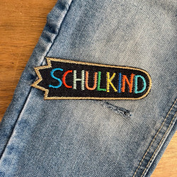 blue jeans patch to iron on Schoolchildren to repair jeans