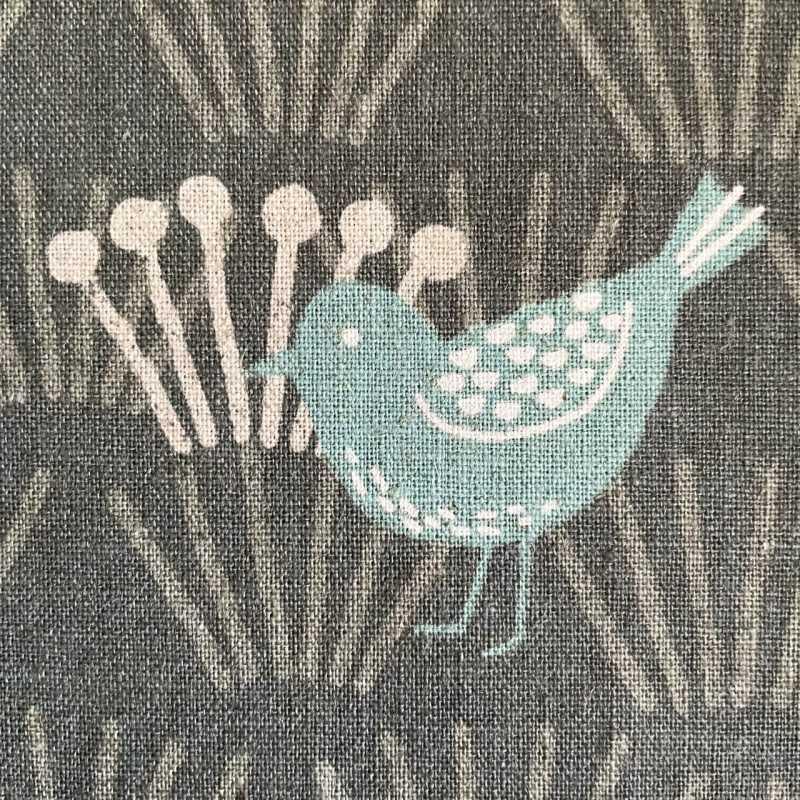 Fabrics bird motif cotton fabric linen cotton mixed fabric