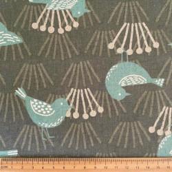 Fabrics birds cotton fabric linen cotton mixed fabric