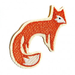 Iron-on patch fox as an iron-on applique or patches and accessories