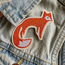 fox patch to iron on and easily customize your denim jacket