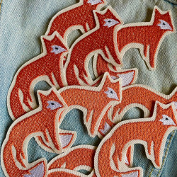 fox iron-on patches by flickli for adults and children made in Germany