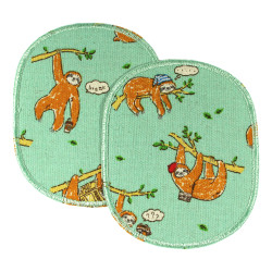 Patches big 2 in the set sloth on light green to iron on trouser patches for children