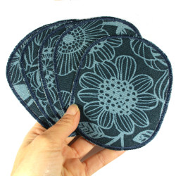 Iron-on repair patches with flowers for children and adults
