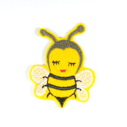 small patch with bee to iron-on insect application