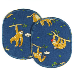 Patches big 2 in the set sloth on blue to iron on trouser patches for children