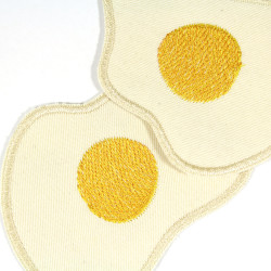Iron-on patches fried eggs as accessories for children and adults