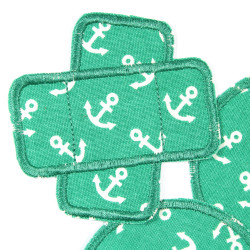 Knee patches for children and adults with maritime anchors 3 iron-on trouser patches