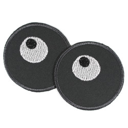 Knee patches for children with pair of eyes made of organic cotton Iron-on trouser patches