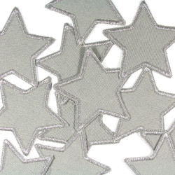 2 stars silver in a set with knee patches for children and adults