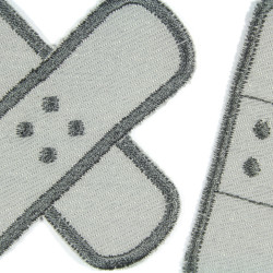 Iron-on patches 2 gray plasters in a set for adults