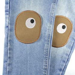 Iron-on repair patches with eyes, ideal as knee patches for children