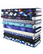 Stars fabric cotton fabrics universe space and cosmos