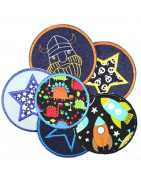 pants patches knee patches iron-on patches round | flickli