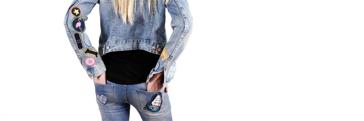 Aufbügler für Erwachsene Bügelbilder Jeans auf Jacke Damen Applikationen Frauen