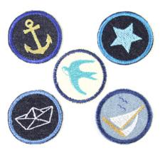 Bügelbilder für Erwachsene maritime Aufbügler Flicken