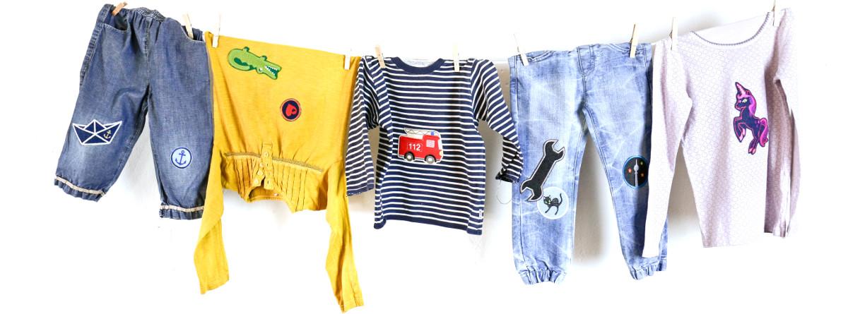 Applikationen für Kinder Bügelflicken aus Jeans Aufbügler für Kinderhosen