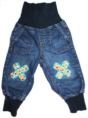 Bügelflicken-Pflaster-Eulen-Jeans-80