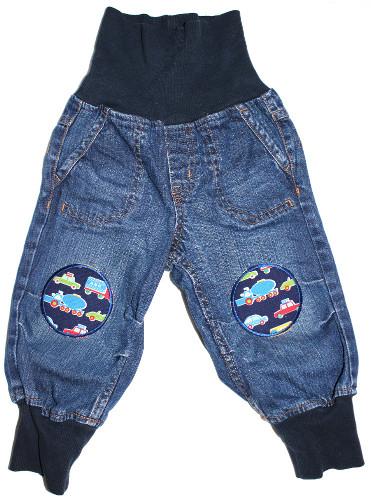 Hose-Jeans-80-Bügelflicken-Autos-rund