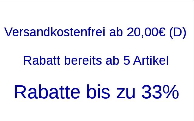 Versandkostenfrei Rabatte